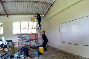 Volunteer in Colombia Education project.Transforming